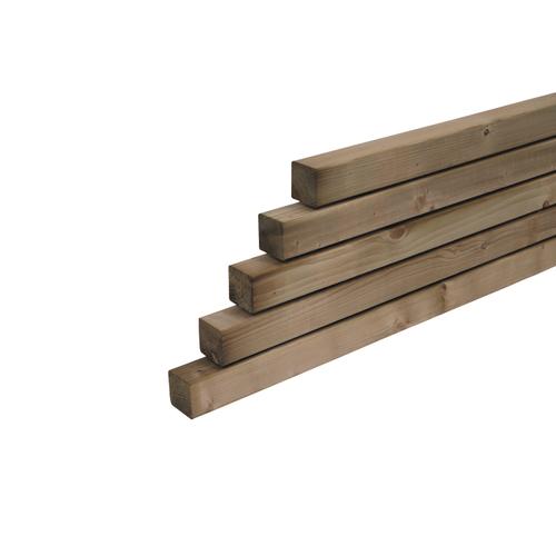 Tuinpaal hout 300 x 6,8 x 6,8 cm