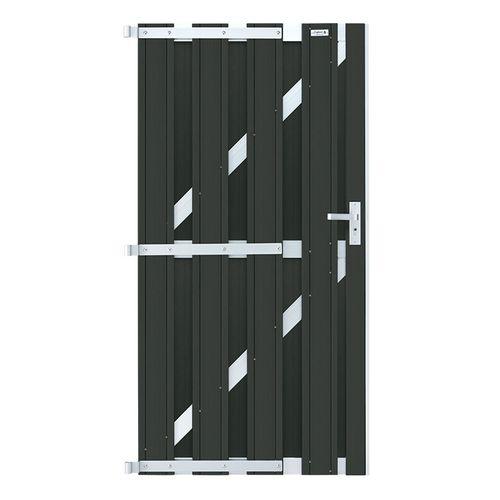 Porte de jardin Elephant WPC Design anthracite 90x180cm