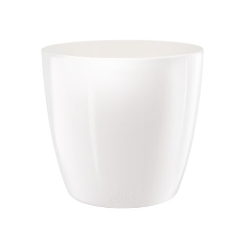 Pot Elho 'Brussels Diamond Round' blanc 18 cm