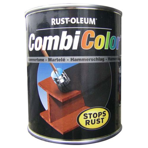 Rust-Oleum verf 'Combi Color' hamerslag zwart 750ml