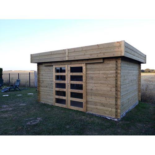 Solid abri de jardin Viborg bois 13,71m² 418x328cm