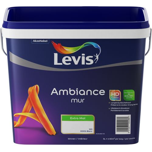 Levis muurverf Ambiance Muur wit extra mat 5L