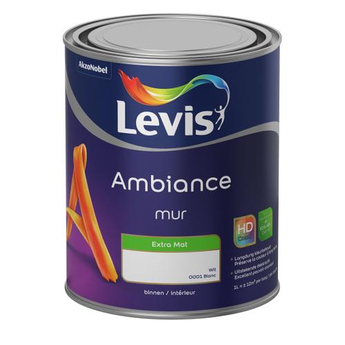 Levis muurverf Ambiance Muur wit extra mat 1L