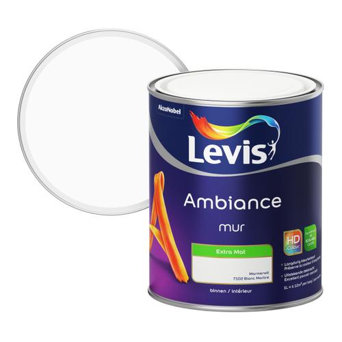 Levis muurverf Ambiance Muur marmer wit extra mat 1L