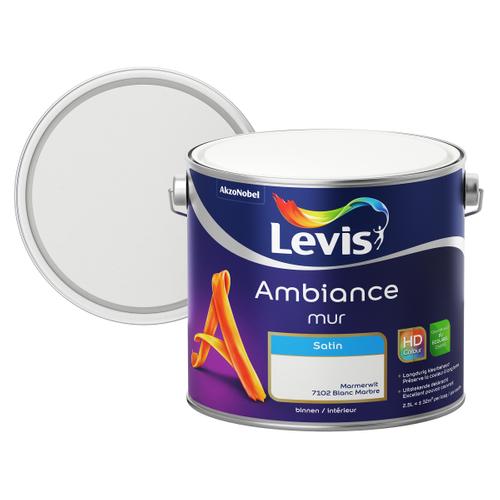 Levis muurverf 'Ambiance' marmerwit satijn 2,5L