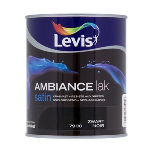 Laque Levis Ambiance noir satin 750ml