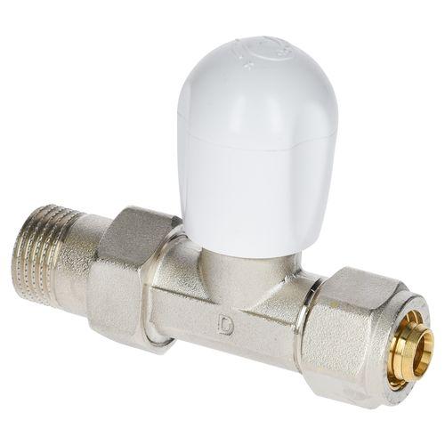 """Vanne radiateur multicouche droit Sanivesk Pex 1/2""""Mx16mm"""