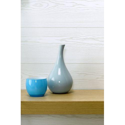 Lambris Dumaplast 'Dumaclip' PVC pin blanc structuré 10mm