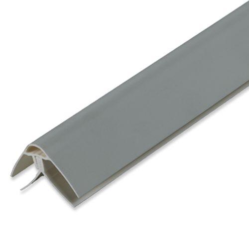 Profilé d'angle universel Dumaplast PVC aluminium 260 x 4 x 2,5 cm