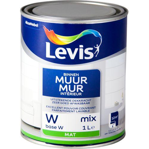 Levis muurverf Muur Interieur Base W wit mat 1L