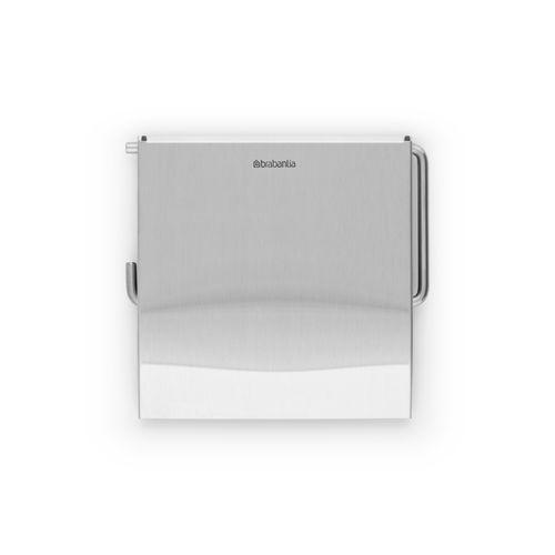 Porte-papier de toilette + couvercle Brabantia Renew métal mat à suspendre