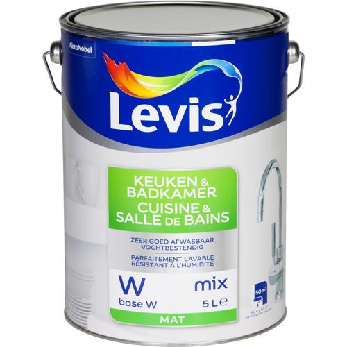Levis muurverf Keuken & Badkamer base W mat 5L