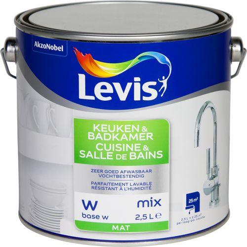 Peinture murale Levis Cuisine & Salle de bain base W mat 2,5L