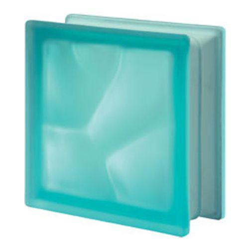 Brique de verre Verhaert turquoise