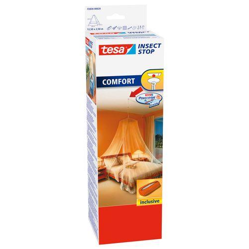 tesa klamboe Insect Stop + plafondhaak 12,5x2,5m wit