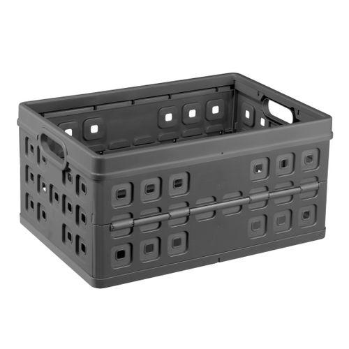Boîte de rangement Sunware 'Square' pliante 46L anthracite