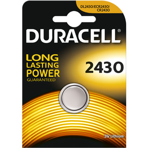 Pile bouton lithium Duracell '2430' 3 V