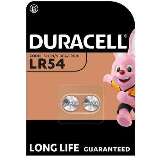 Duracell alkaline knoopcel batterij 'LR54' 1,5 V - 2 stuks
