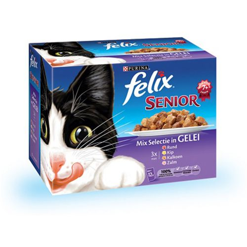 Felix pouch 12-pack senior 100 gram