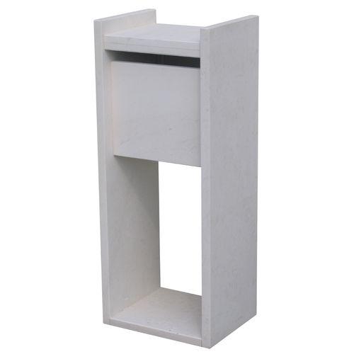 VASP brievenbus op voet 'Madrid white' Franse witsteen