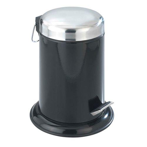 Poubelle à pédale Wenko' Retro' métal noir 3 L
