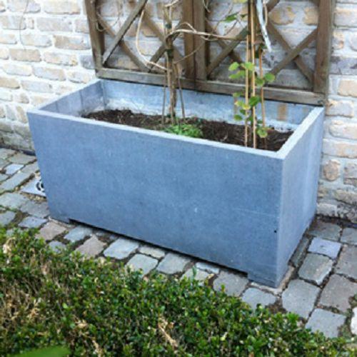 Pot V.A.S.P 'Rectangle Classic' pierre bleue belge 100 x 45 x 45 cm