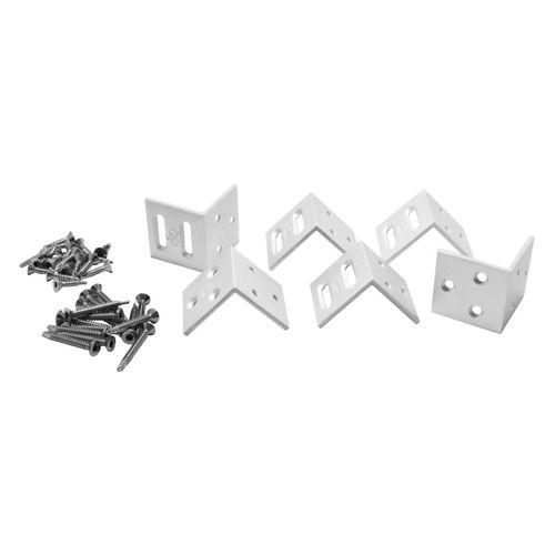 Elephant hoekbeslag voor houten tuinschermen zilver