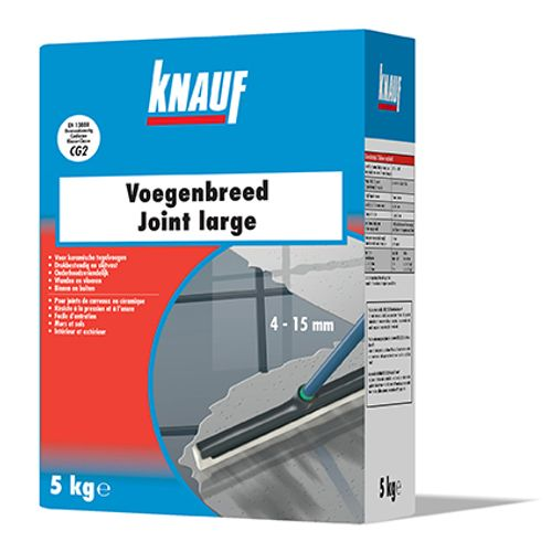 Joint large Knauf 'Flex' gris ciment 5 kg