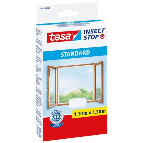 Tesa vliegenraam 'Standard' wit 1,3 x 1,1 m