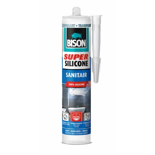 Bison siliconenkit super silicone sanitair transparant 300ml