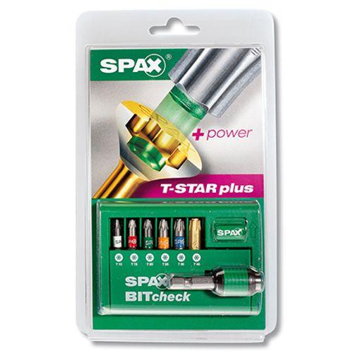 Spax bitset T-Star plus met adapter - 6 stuks