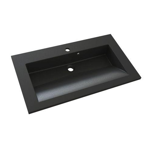 Lavabo Allibert Slide solidsurface 80cm granit noir