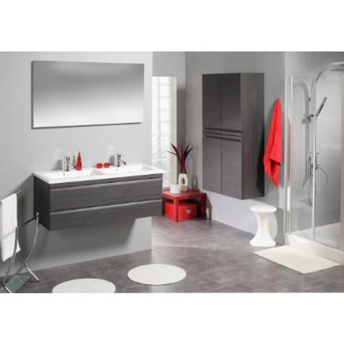Accent meuble sous-lavabo de toilette 120 2Tgris Antr
