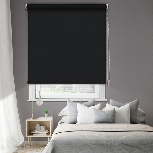 Madeco thermisch verduisterende rolgordijn manueel effen zwart 90x250cm