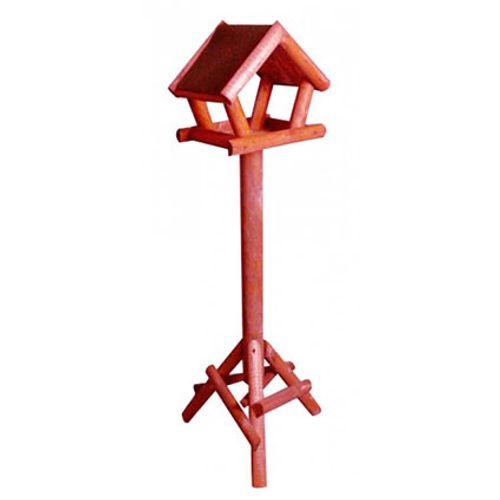 Vogelhuis dakleer rood 114 cm
