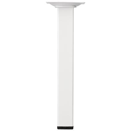 Meubelpoot metaal vierkant wit 20 cm