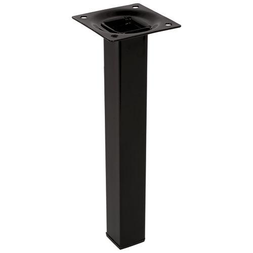 Duraline meubelpoot vierkant zwart 2,5x20cm
