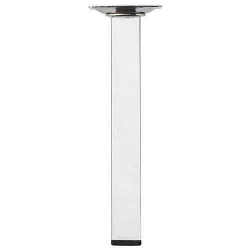Duraline meubelpoot vierkant staal 2,5x2,5x20cm chroom