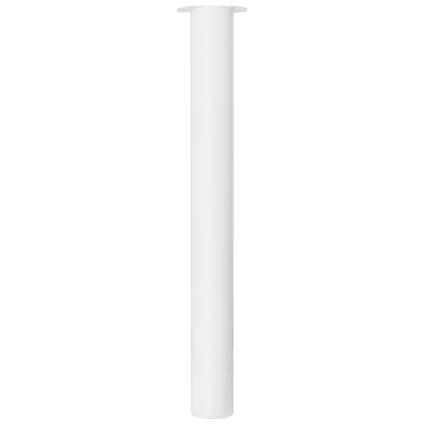 Meubelpoot metaal rond wit 72 cm
