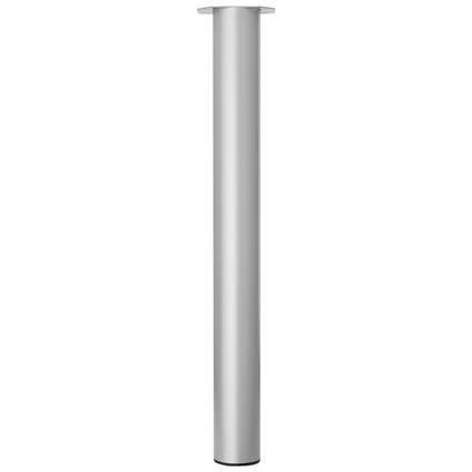 Meubelpoot metaal rond zilvergrijs 72 cm