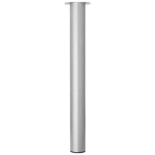 Duraline meubelpoot rond zilvergrijs 7,6x72cm