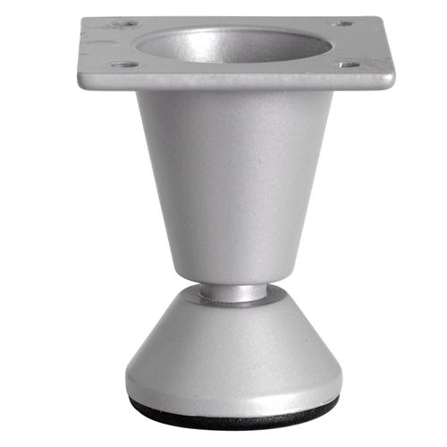 Duraline meubelpoot rond met voet zilvergrijs 5cm