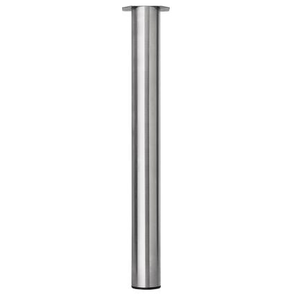 Meubelpoot metaal rond inox 72 cm
