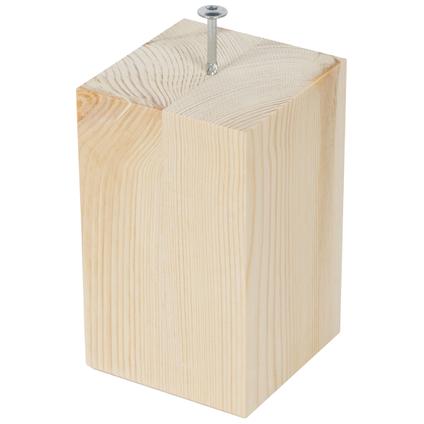 Pied de meuble bois carré pin 15 cm