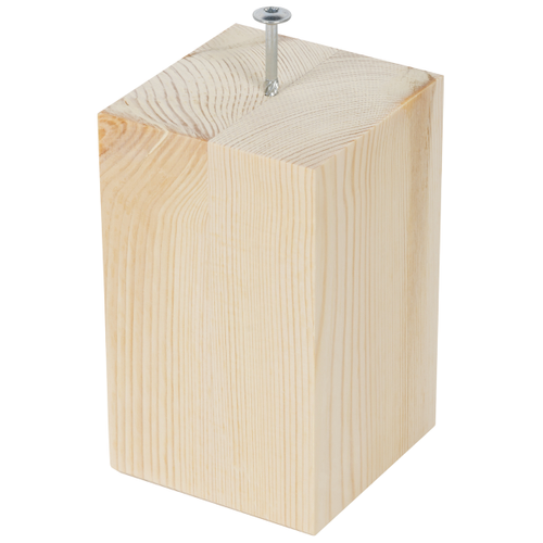 Meubelpoot hout vierkant vuren 15 cm