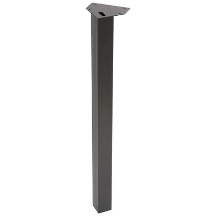 Pied de meuble métal carré 'Marteau' 72 cm