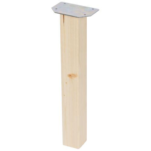Duraline meubelpoot vierkant vurenhout 5x5x42cm