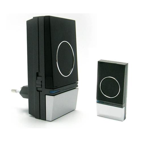 Avidsen draadloze deurbel Plug&Play 100m zwart