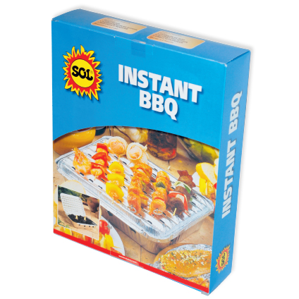 Barbecue jetable Sol 'Instant BBQ' 29x23,5cm