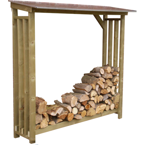Lutrabox haardhoutopslag 125x62x180cm